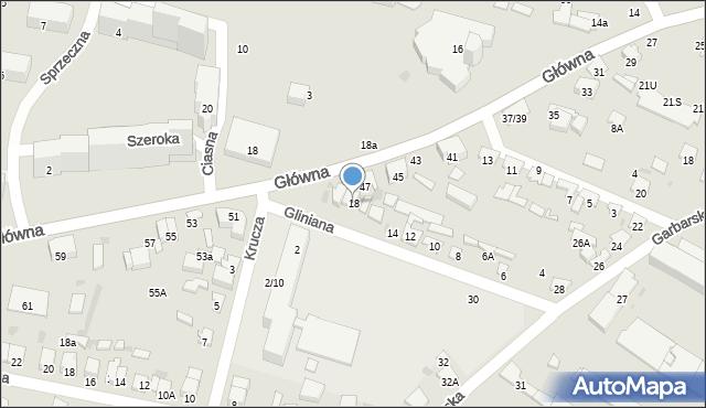 Radom, Gliniana, 18, mapa Radomia
