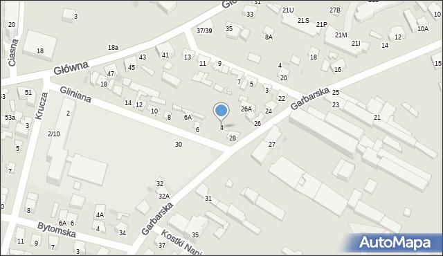 Radom, Gliniana, 4, mapa Radomia
