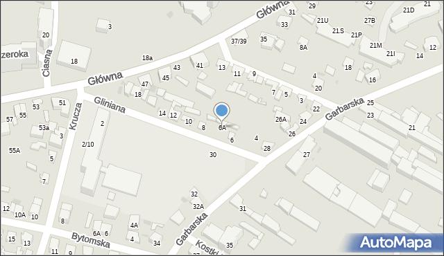 Radom, Gliniana, 6A, mapa Radomia