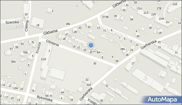 Radom, Gliniana, 8, mapa Radomia