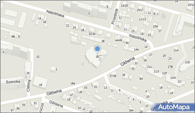 Radom, Główna, 16, mapa Radomia