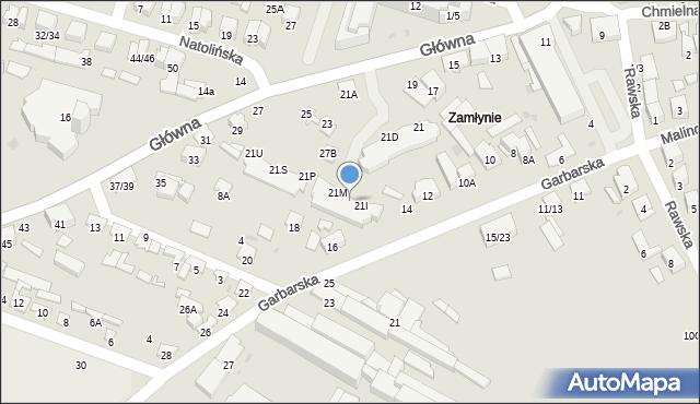 Radom, Główna, 21J, mapa Radomia