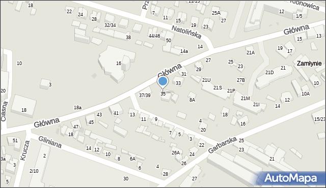 Radom, Główna, 35, mapa Radomia