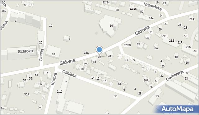 Radom, Główna, 43, mapa Radomia