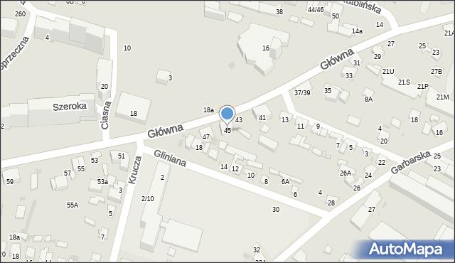 Radom, Główna, 45, mapa Radomia