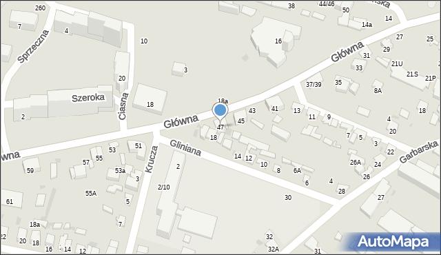 Radom, Główna, 47, mapa Radomia