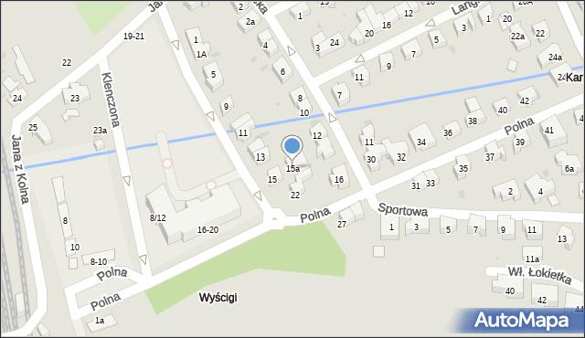 Sopot, Głowackiego Bartosza, 15a, mapa Sopotu