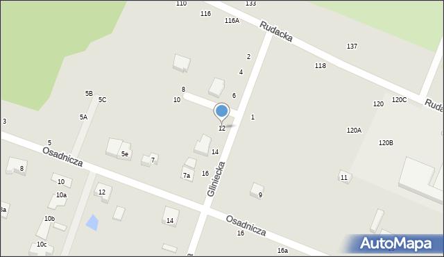 Toruń, Gliniecka, 12, mapa Torunia