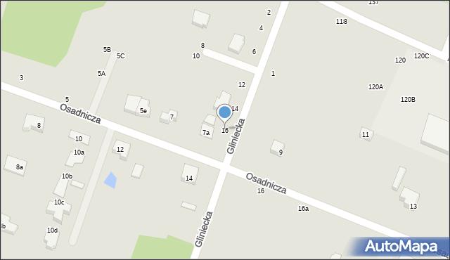 Toruń, Gliniecka, 16, mapa Torunia