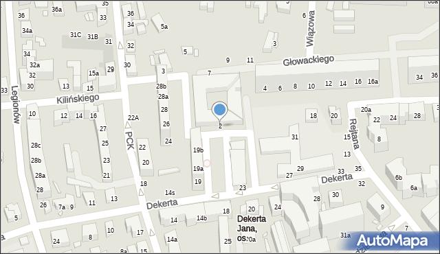 Toruń, Głowackiego Bartosza, 2, mapa Torunia