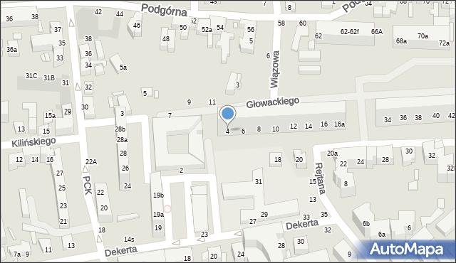 Toruń, Głowackiego Bartosza, 4, mapa Torunia