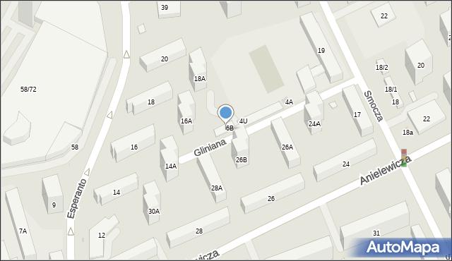 Warszawa, Gliniana, 6D, mapa Warszawy