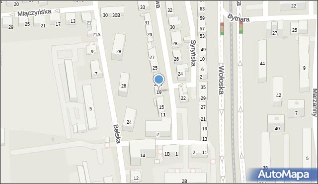 Warszawa, Głogowa, 19, mapa Warszawy