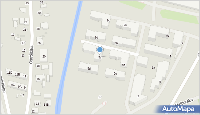 Warszawa, Głębocka, 5c, mapa Warszawy