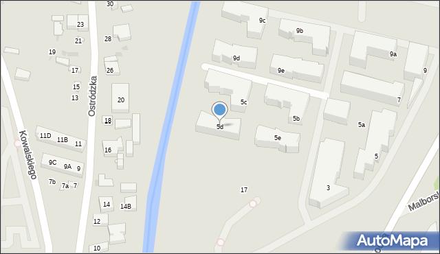 Warszawa, Głębocka, 5d, mapa Warszawy