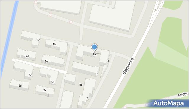 Warszawa, Głębocka, 9a, mapa Warszawy