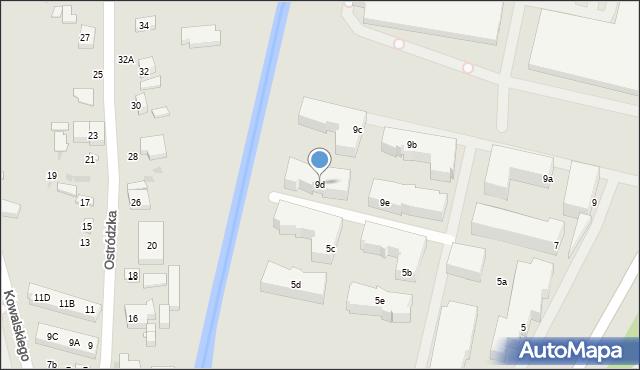 Warszawa, Głębocka, 9d, mapa Warszawy