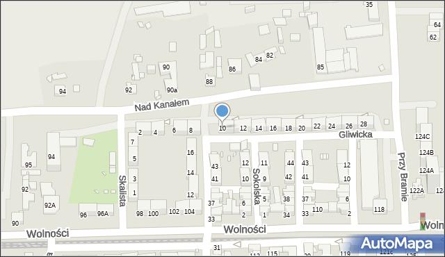 Zabrze, Gliwicka, 10, mapa Zabrza