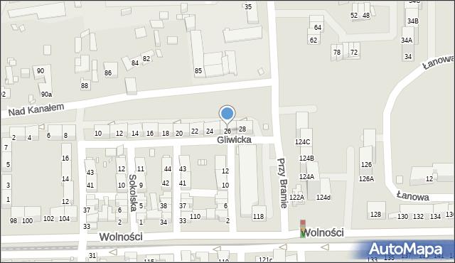 Zabrze, Gliwicka, 26, mapa Zabrza