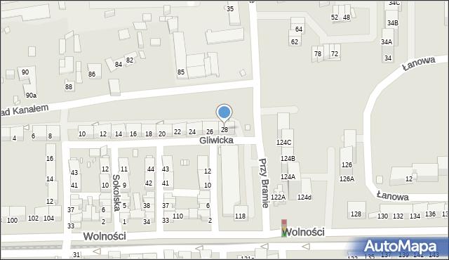 Zabrze, Gliwicka, 28, mapa Zabrza