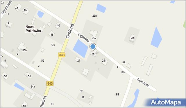 Pokrówka, Gminna, 25, mapa Pokrówka