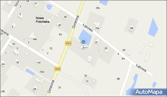 Pokrówka, Gminna, 27, mapa Pokrówka