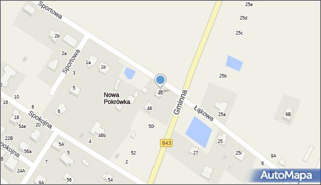 Pokrówka, Gminna, 46, mapa Pokrówka