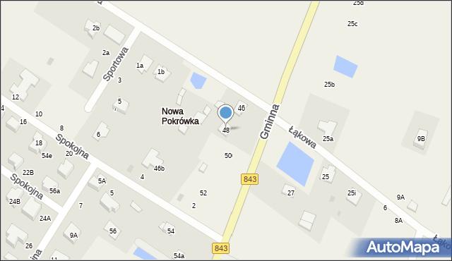 Pokrówka, Gminna, 48, mapa Pokrówka