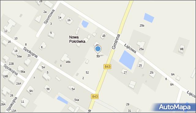 Pokrówka, Gminna, 50, mapa Pokrówka