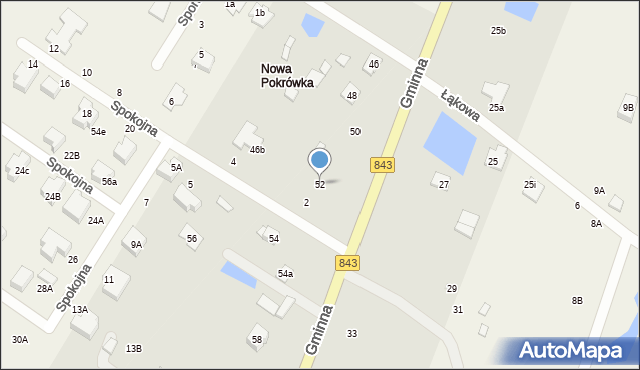 Pokrówka, Gminna, 52, mapa Pokrówka