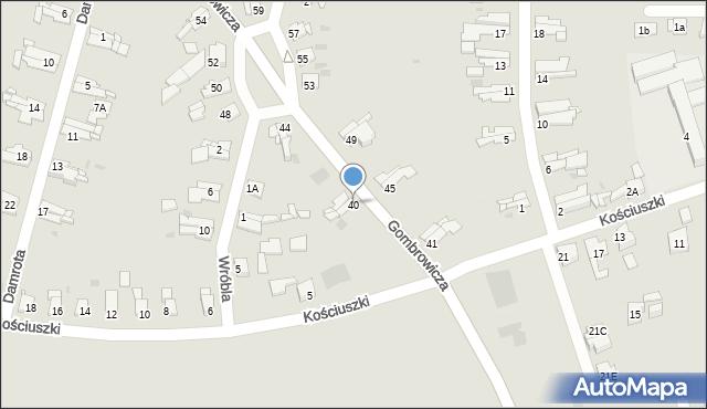 Bytom, Gombrowicza Witolda, 40, mapa Bytomia