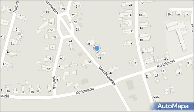 Bytom, Gombrowicza Witolda, 47, mapa Bytomia