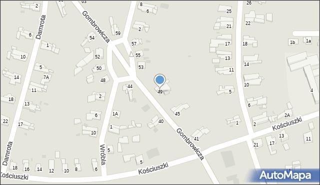 Bytom, Gombrowicza Witolda, 49, mapa Bytomia
