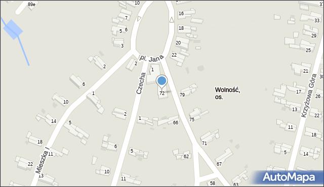 Bytom, Gombrowicza Witolda, 72, mapa Bytomia