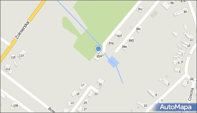 Bytom, Gombrowicza Witolda, 91H, mapa Bytomia