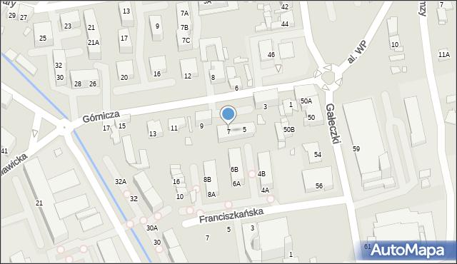 Chorzów, Górnicza, 7, mapa Chorzów