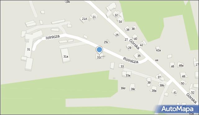 Dobczyce, Górska, 31c, mapa Dobczyce