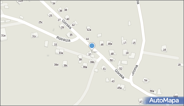 Dobczyce, Górska, 37A, mapa Dobczyce