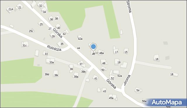 Dobczyce, Górska, 46, mapa Dobczyce