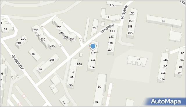 Gdańsk, Gospody, 11C, mapa Gdańska