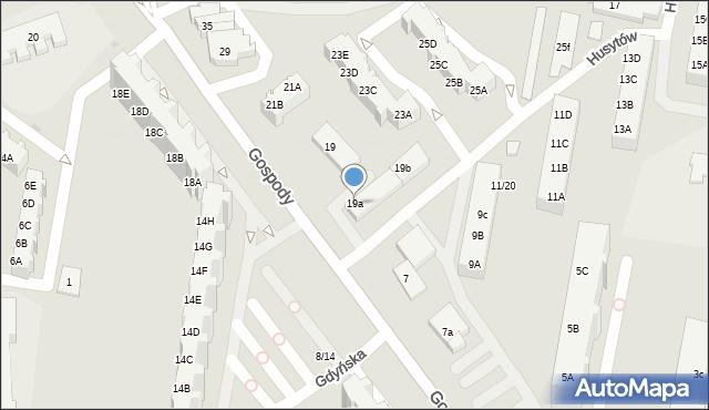 Gdańsk, Gospody, 19a, mapa Gdańska
