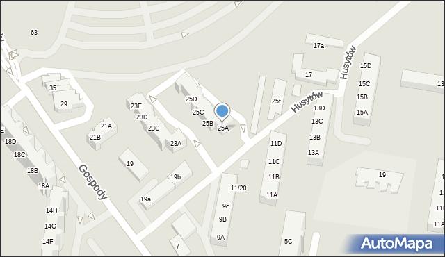 Gdańsk, Gospody, 25A, mapa Gdańska