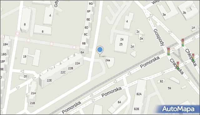Gdańsk, Gospody, 2f, mapa Gdańska