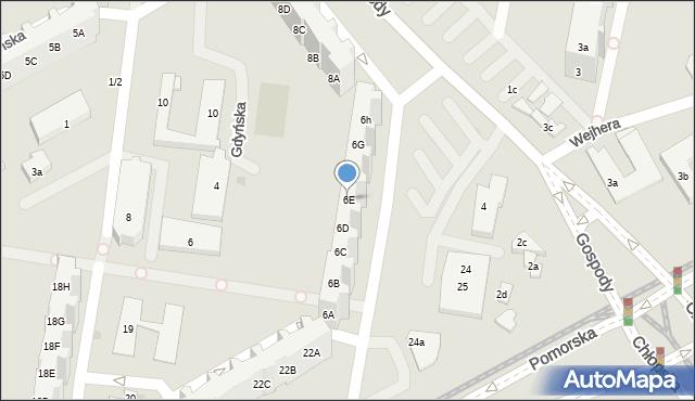 Gdańsk, Gospody, 6E, mapa Gdańska