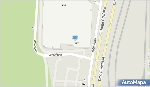 Gdynia, Górskiego Kazimierza, 254, mapa Gdyni