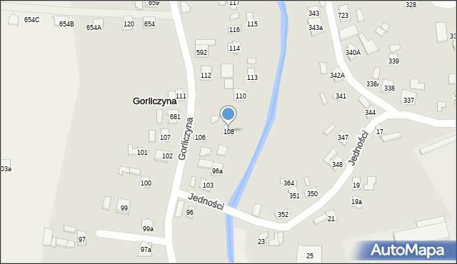 Gorliczyna, Gorliczyna, 108, mapa Gorliczyna