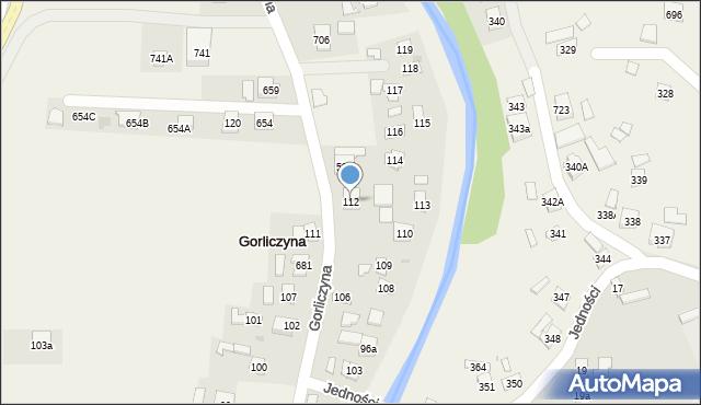 Gorliczyna, Gorliczyna, 112, mapa Gorliczyna