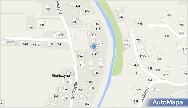 Gorliczyna, Gorliczyna, 114, mapa Gorliczyna