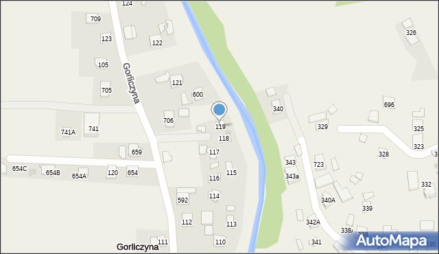 Gorliczyna, Gorliczyna, 119, mapa Gorliczyna