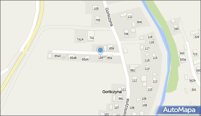 Gorliczyna, Gorliczyna, 120, mapa Gorliczyna